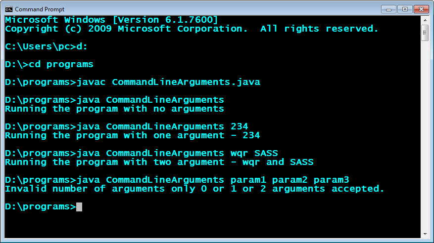 Run-command-line-arguments-program