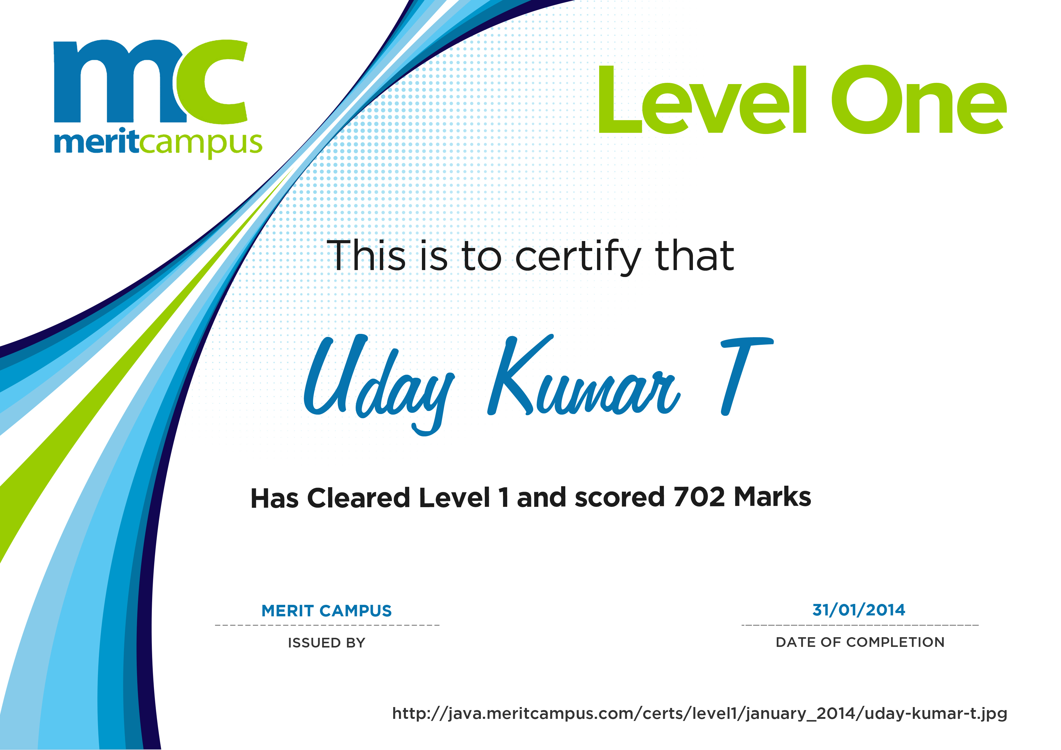 Certification Merit Campus Certification Levels – Merit Certificate Sample