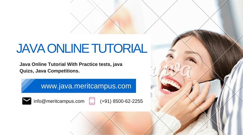 Java Online Tutorial By Merit Campus