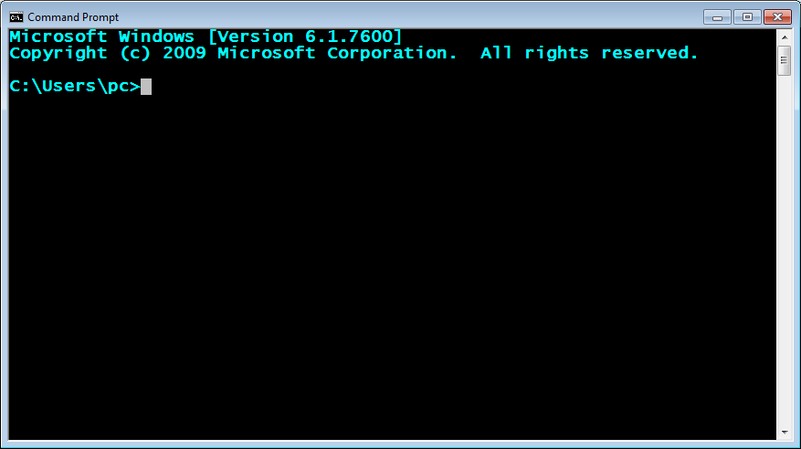 compilation command prompt