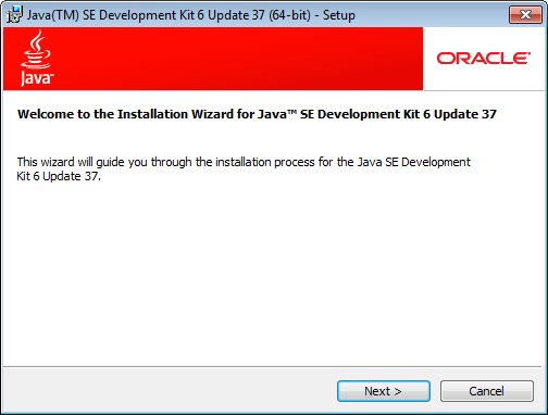 install java install process welcome screen