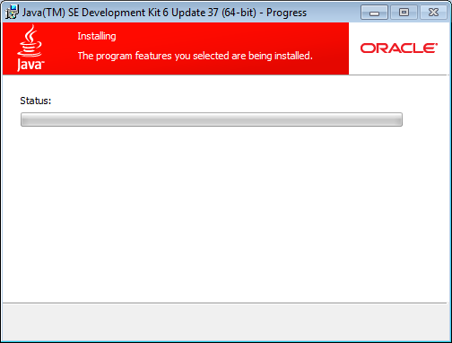 install java wait for install to complete